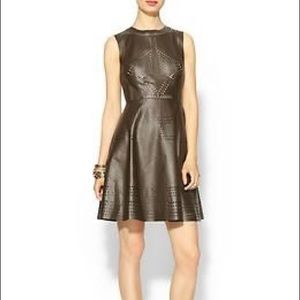4d17974230 Ark   Co. Vegan Leather Cutout Dress in Olive ...